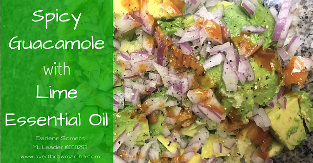 DIY Lime Guacamole with #essentialoil