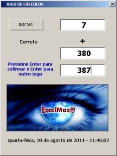 Jogo no Excel para Estimular Cálculos Rápidos