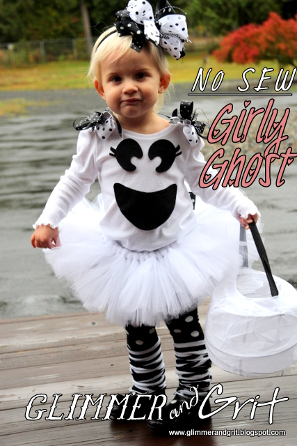 DIY No-Sew Girly Ghost Costume Tutorial  sc 1 st  Glimmer And Grit & Glimmer And Grit: DIY No-Sew Girly Ghost Costume Tutorial