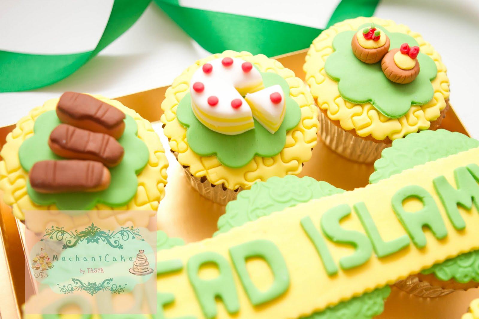 MechaniCake: Cake + cupcake set for Bread Islamy Opening