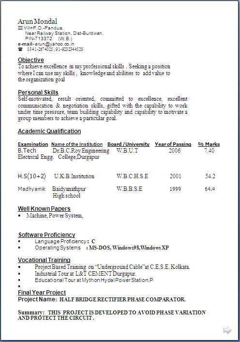 typical2bresume2bformat download resume format