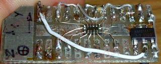 Akcelerometr LIS302DL na płytce.