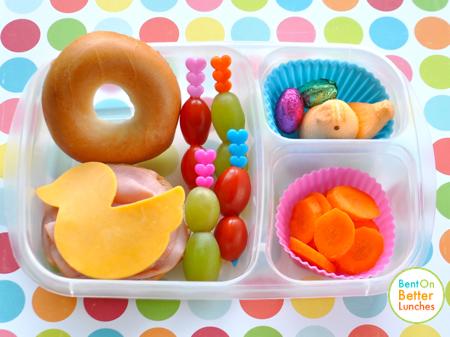Easter Peeps bento school lunch