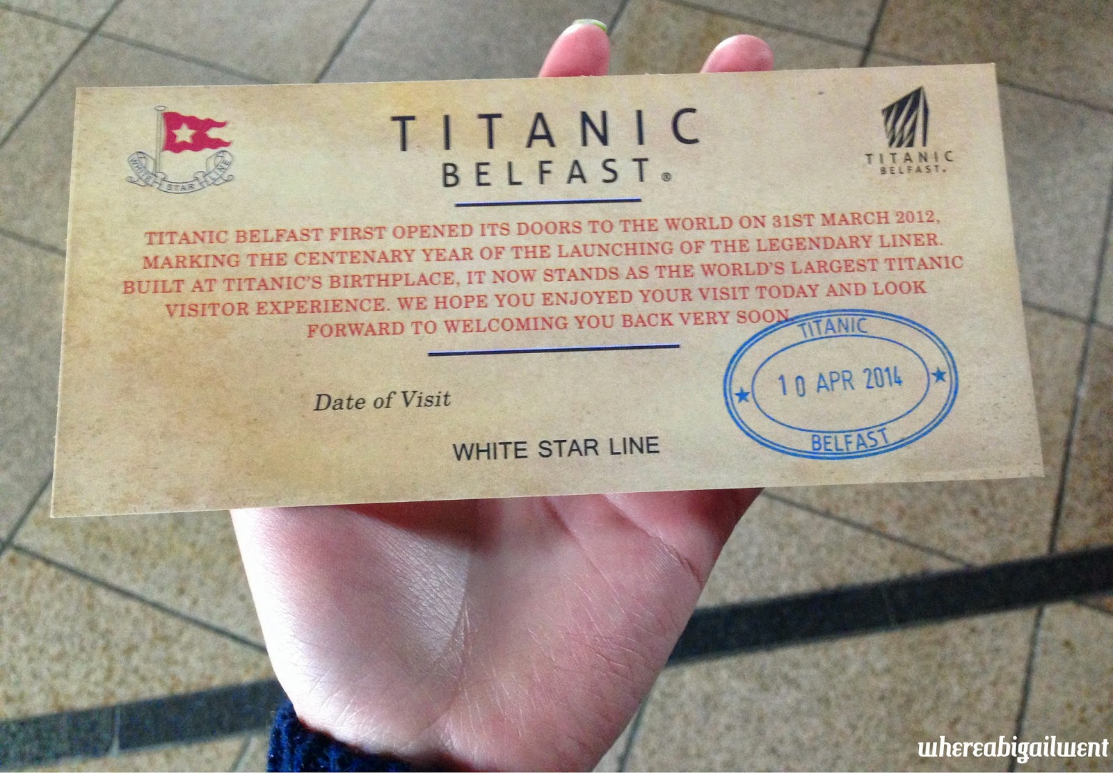 the titanic experience takes you up and down the building and you travel from boomtown belfast which takes you through the historical background of