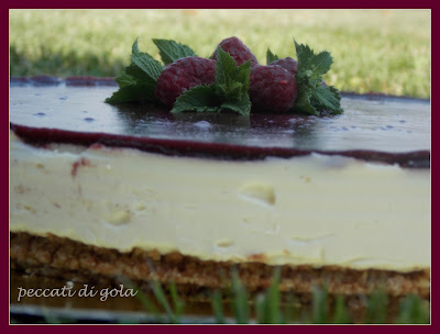 cheesecake con marmellata di more di rovo