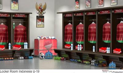 PES 2014 Locker Room Indonesia U-19 by FiqarGFX