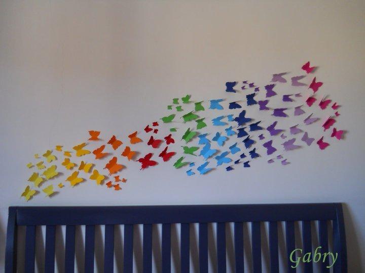 In pigiama decorare una parete con le farfalle decorating with butterflies - Farfalle decorative per pareti ...