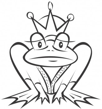 Funny Frog Coloring Pages