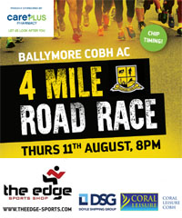 4 mile race in Cobh, Co.Cork...Thurs 11th Aug 2016
