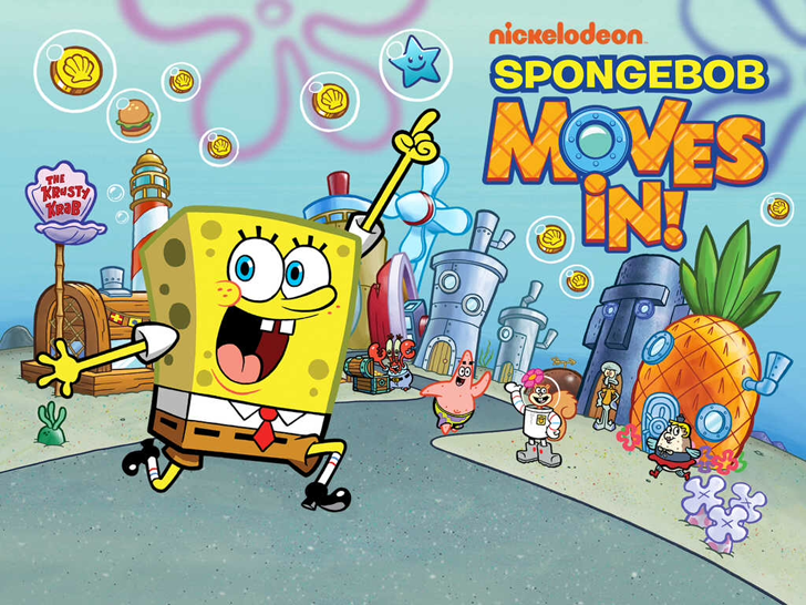 SpongeBob Moves In Free App Game By Nickelodeon
