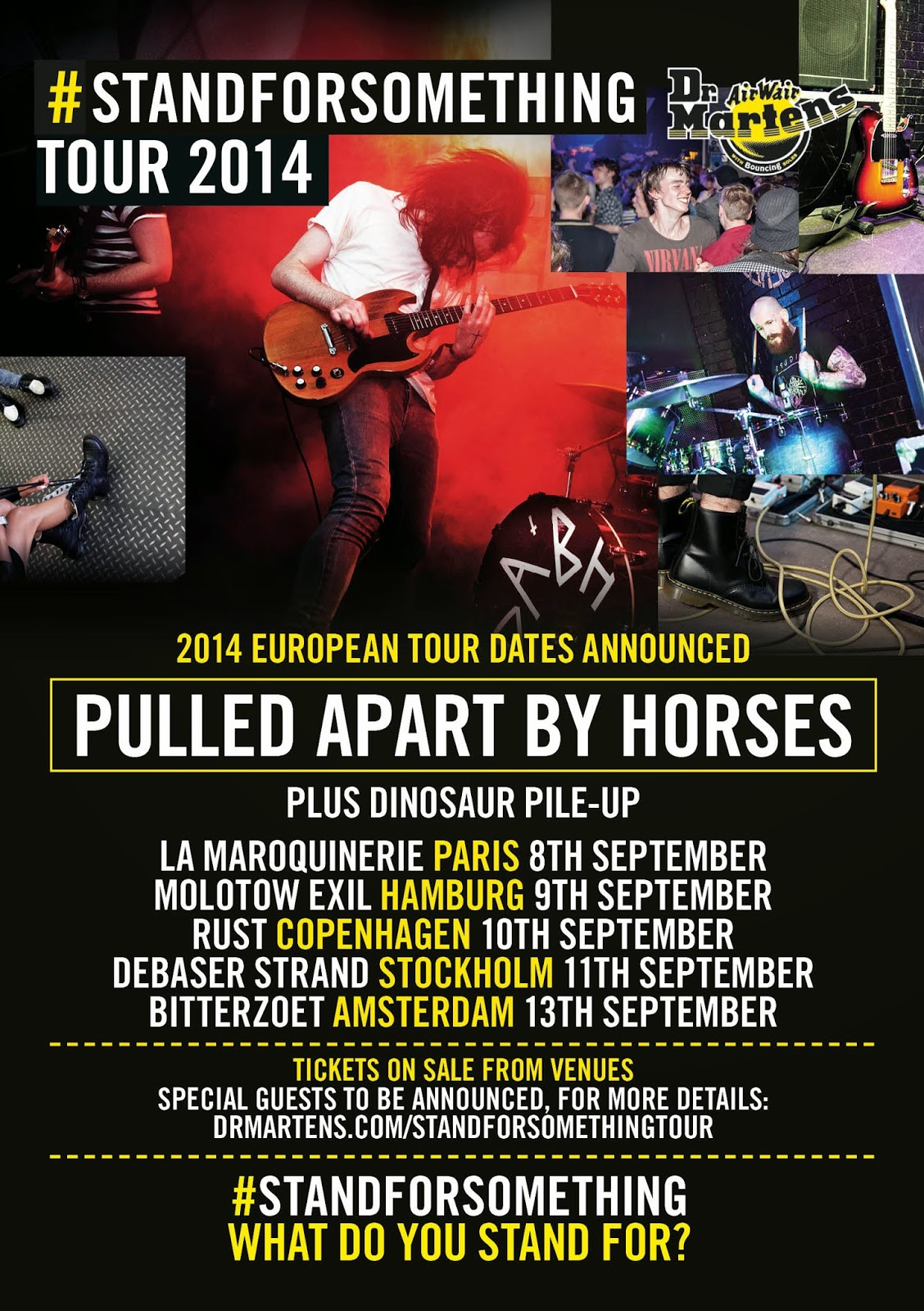 Dr Martens #STANDFORSOMETHING Tour Europe
