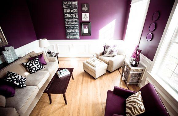 Decoracion En Gris Y Morado ~ Salas en Color Morado  Ideas para decorar, dise?ar y mejorar tu casa