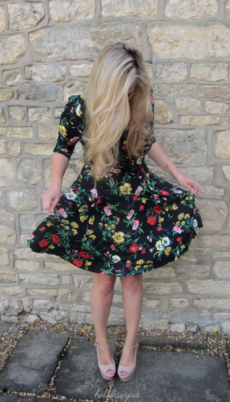 ASOS floral skater dress for my birthday celebrations