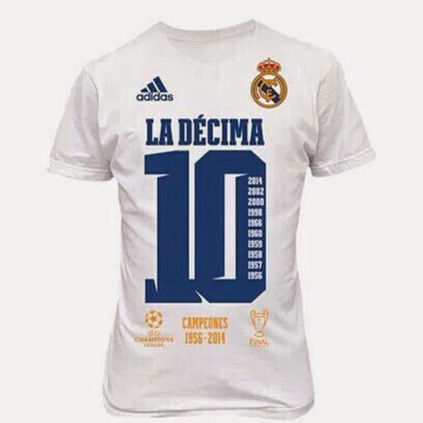 Camiseta Champions - Campeones de Europa Real Madrid k6DEG