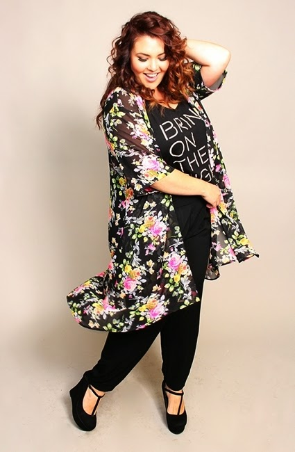 Plu size DIY Kimono, sewing without a pattern