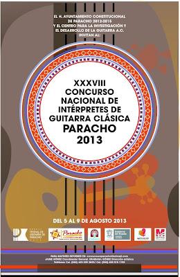 Concurso Nacional de Interpretes de Guitarra Clásica en Paracho 2013