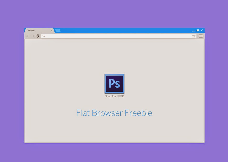 Free Flat Browser PSD