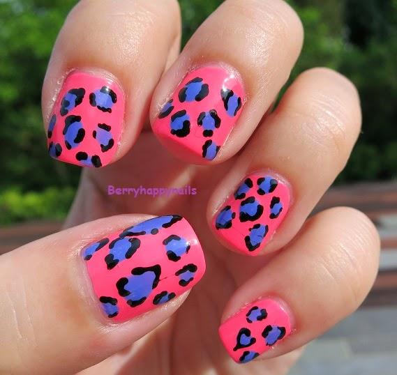 Happyberrynaiad Nail Art Weekend Summer Neon Leopard