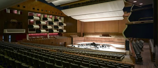 Inside picture of the Royal Festival Hall in London