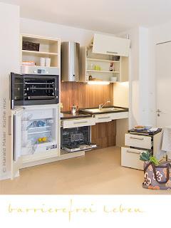 Küche barrierefrei altersgerecht und für Rollstuhlfahrer geeignet