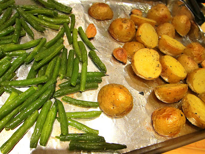 Roasted Green Beans and Potatoes