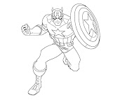 #6 Captain America Coloring Page