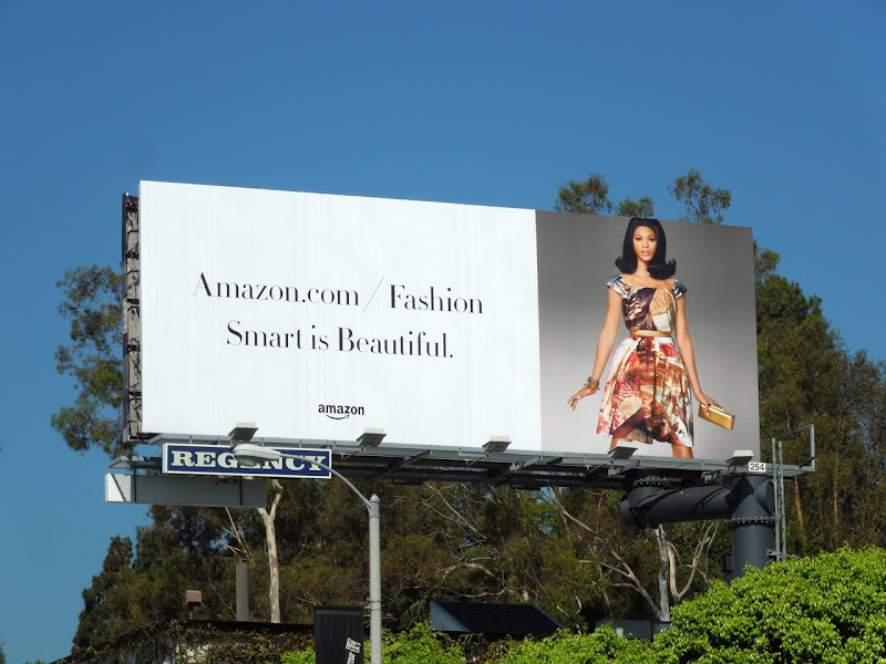 Amazon fashion Smart is beautiful billboard