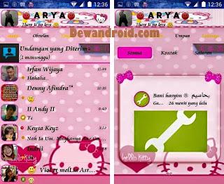 BBM Mod Tema Hello Kitty Apk 2.8.0.21 Add Clone dan Stiker Gratis