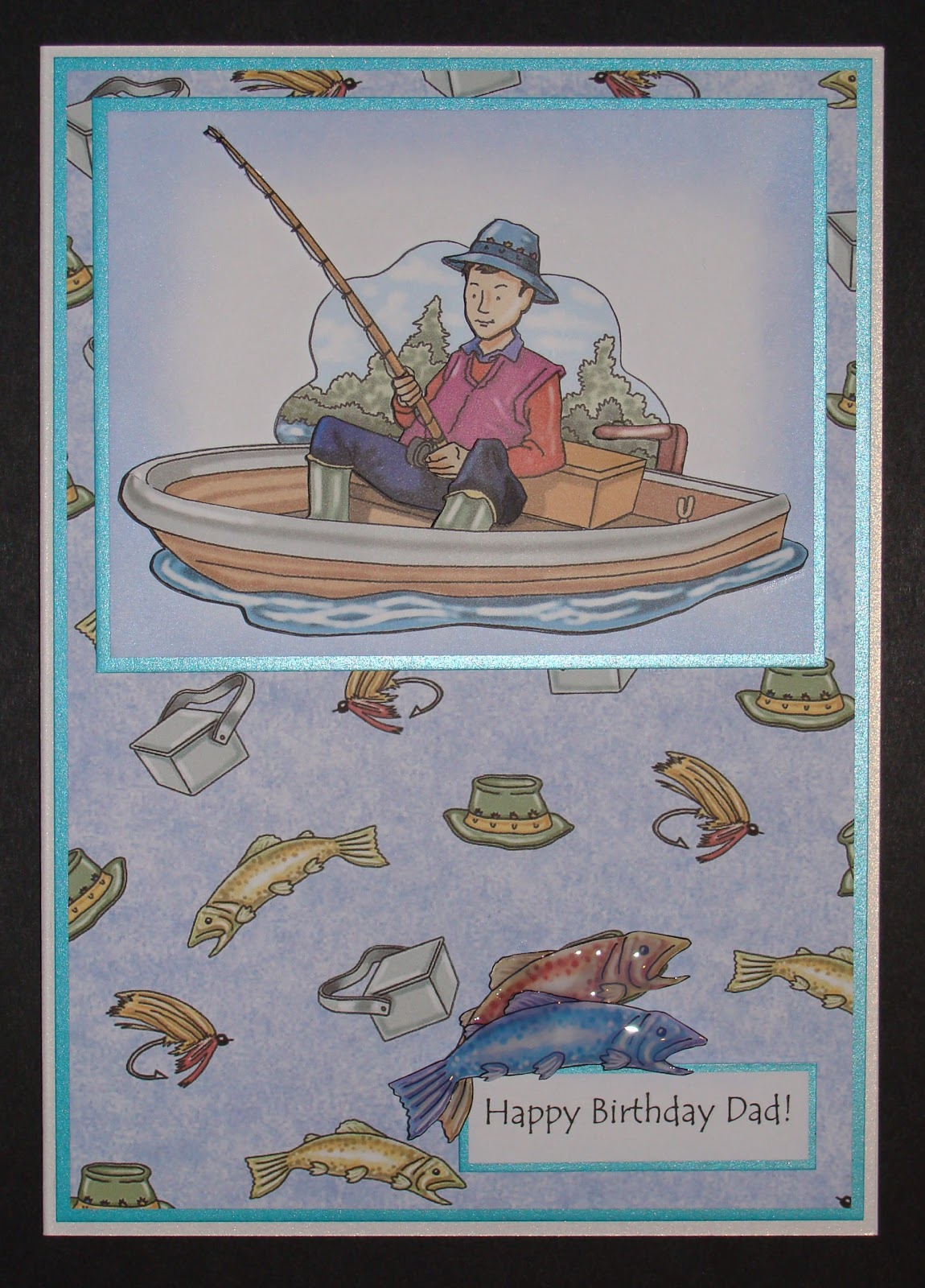 Magnificent Delphinoids Cards And Craft Fishing Birthday Card Funny Birthday Cards Online Benoljebrpdamsfinfo