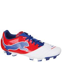 Botas de Fútbol Puma Powercat 4.12 FG para Hombre - Blanco/Rojo/Azul