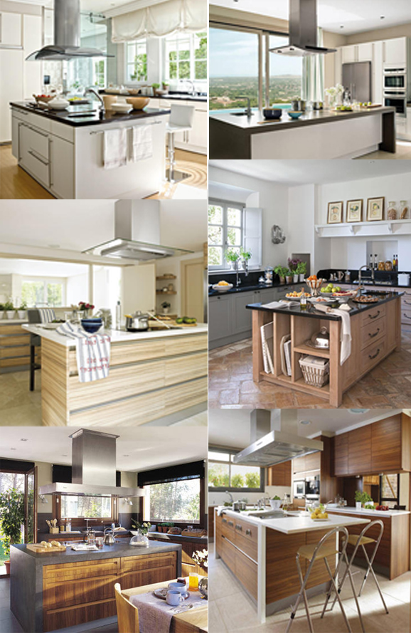 ArquiteturaidEA Cozinhas parte 01  Ilhas centrais # Ilha Cozinha Tijolo