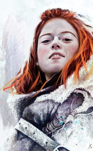 Ygritte retrato - Juego de Tronos en los siete reinos