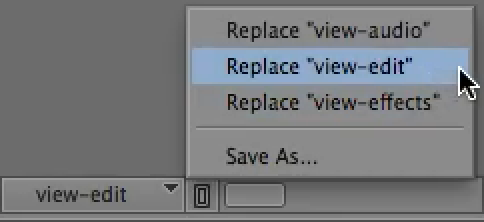 Replace timeline views in the Avid Media Composer.
