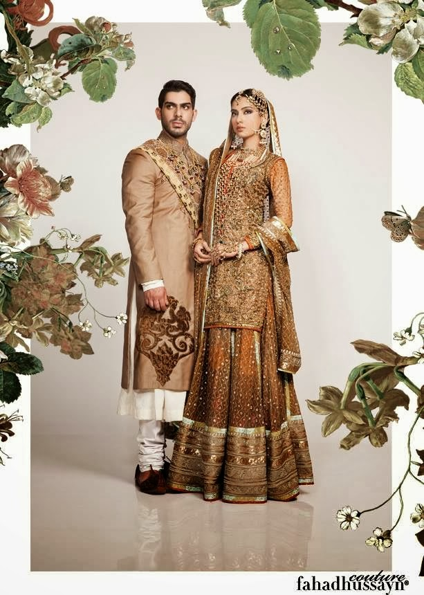 Traditional Bridal Dresses by Fahad Hussayn