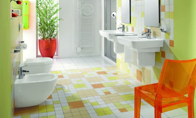 Pro Architectura decorative bathroom tiles 550x332 Banheiros simples e lindos