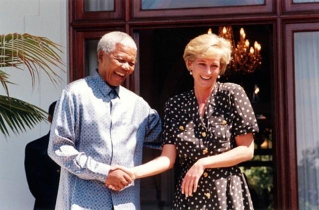 Nelson Mandela e Princesa Diana