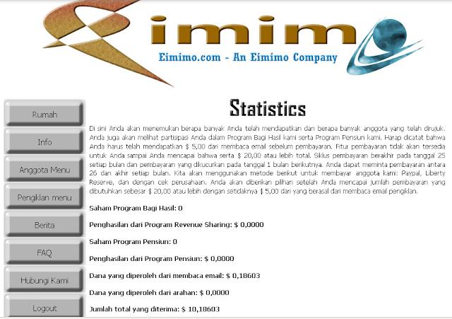 Tampilan Situs Eimimo