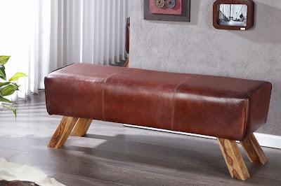 kozena sedacka, prava koza sedenie, dlha lavica na sedenie, luxuny nabytok z koze