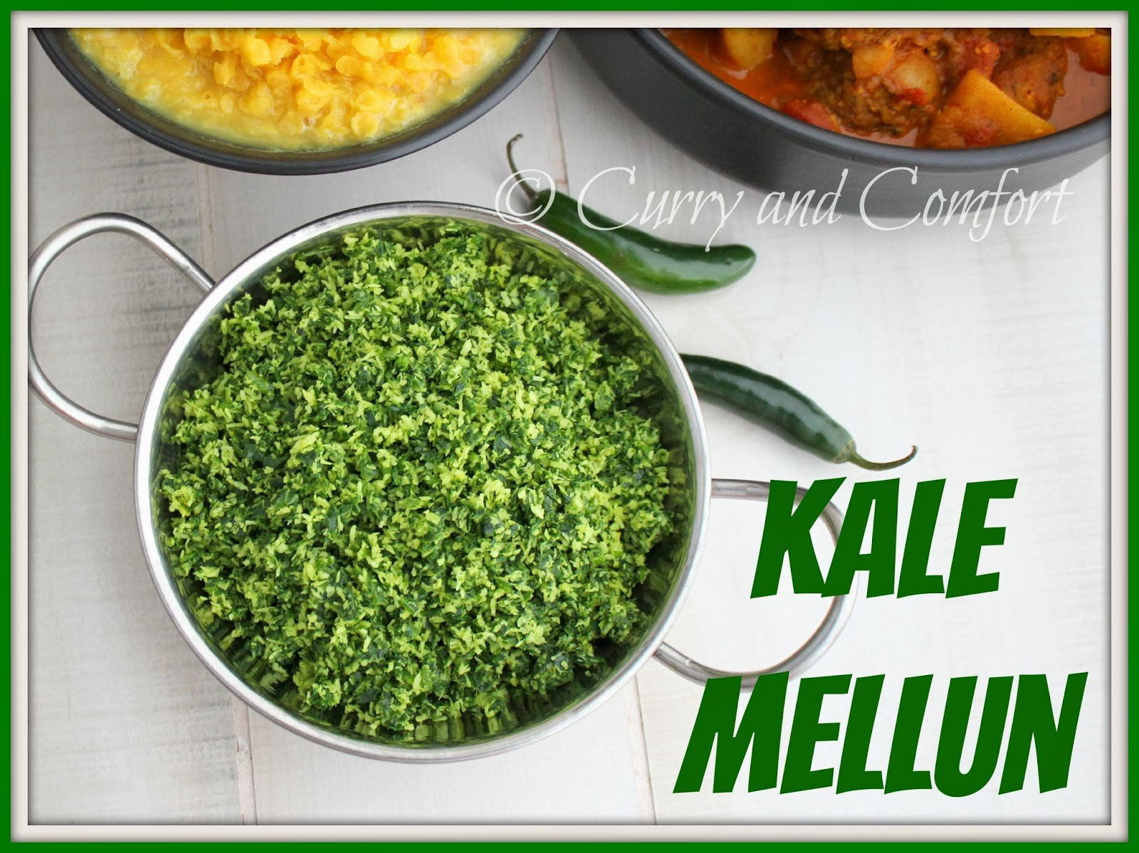 Kitchen simmer sri lankan kale mellun vegan welcome to day 4 of kale week now this kale dish is truly a powerhouse in sri lanka we eat is as one of many dishes served in a rice and curry forumfinder Choice Image