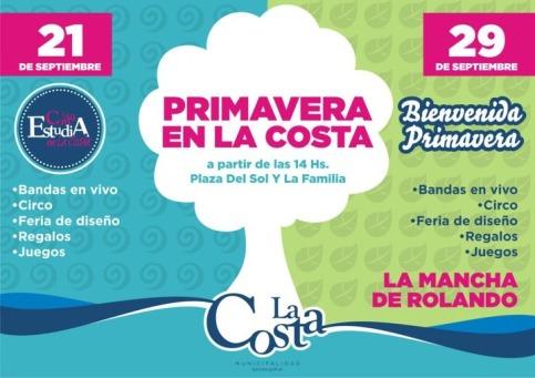 Cronograma de la Fiesta de la Primavera 2012