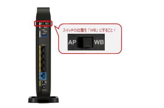 スイッチを「WB」へ変更