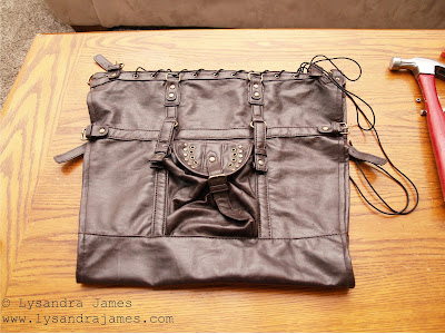 How to make a corset...from a purse! - www.LysandraJames.com