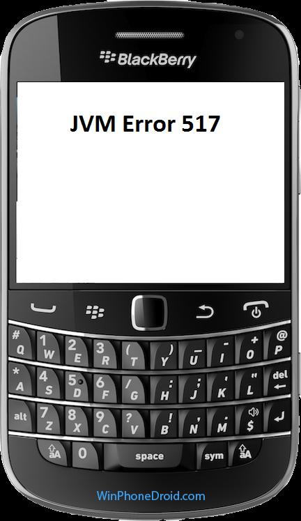 JVM Error 517