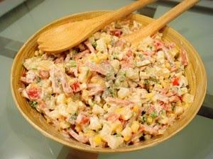 [Salad] Tự làm Salad Nga vị dứa thơm ngon ngậy vô cùng 4