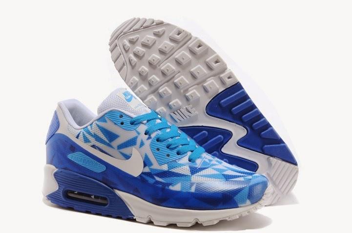 Toko online sepatu Nike Air max 90 Hyperfuse ice Woman, warna putih biru