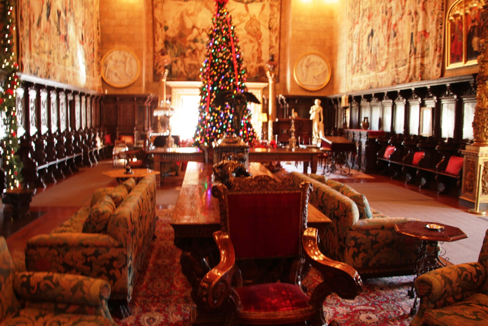 The dining room resembled a scene from the Harry Potter movie with its  title=