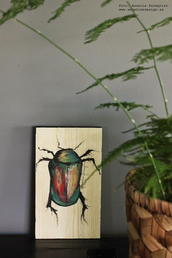 diy tavla, tavlor, pyssel, pyssla, måla, skalbagge, skalbaggar, grå vägg, vardagsrum, inredning, inredningsblogg, blogg, bloggar,