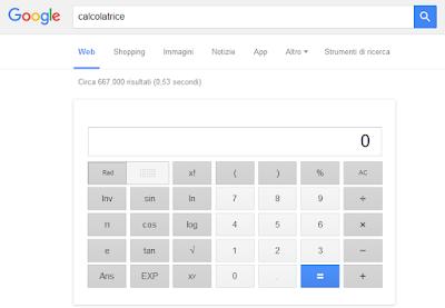 Google Calcolatrice