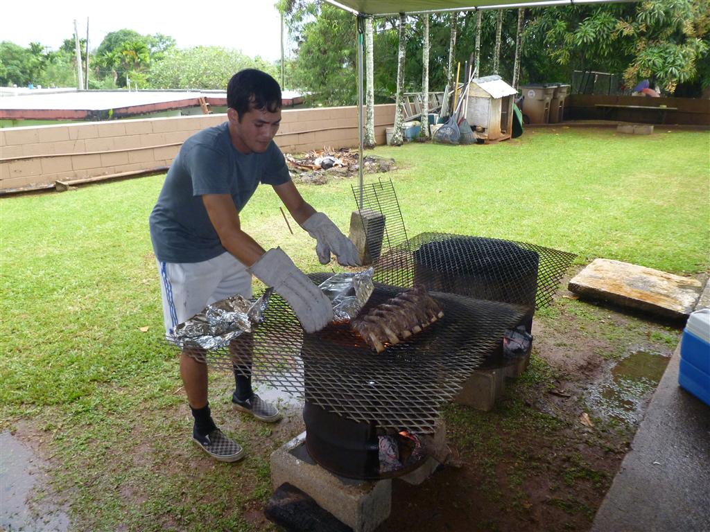 guam firehouse cook grandson goes to bootcamp so we bbq