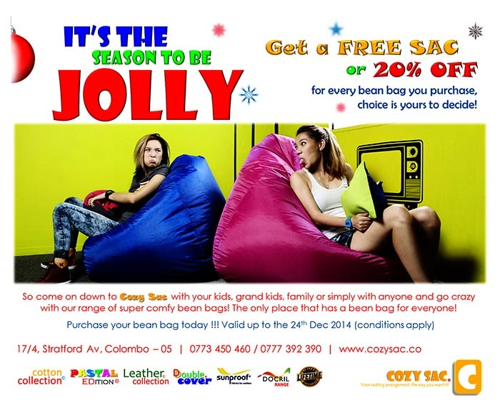 If you'd ask us, we'd say Cozy Sac's are one of  the most comfortable piece of furniture in existence. At present Cozy Sac is the only branded Bean Bag available in Sri Lanka providing its customers a range of products to fit different life styles…   We truly believe that Cozy Sac is the answer to comfortable seating that people of all ages have been looking for.
